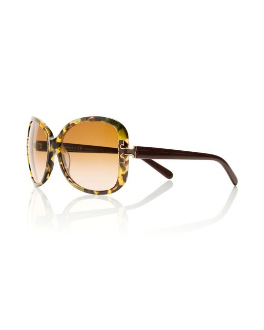 Tory Burch | Natural Oversized T-Hinge Sunglasses | Lyst