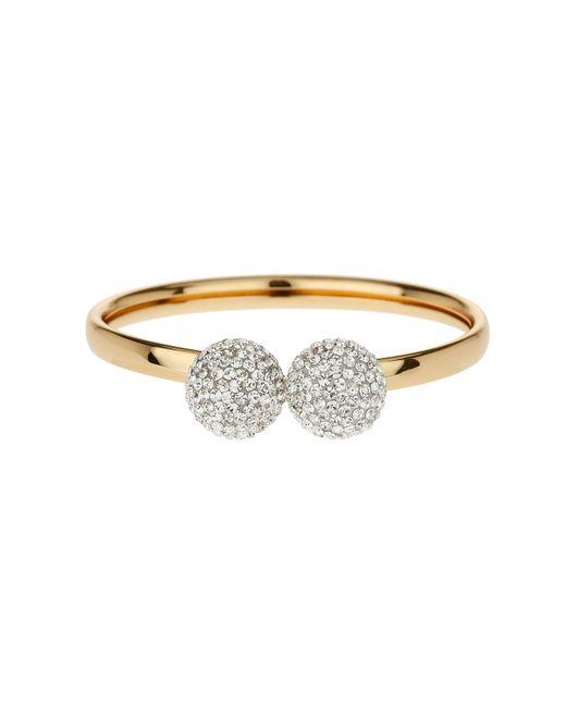 Mikey | Metallic Twin Hea Cluster Bracelet Gold | Lyst
