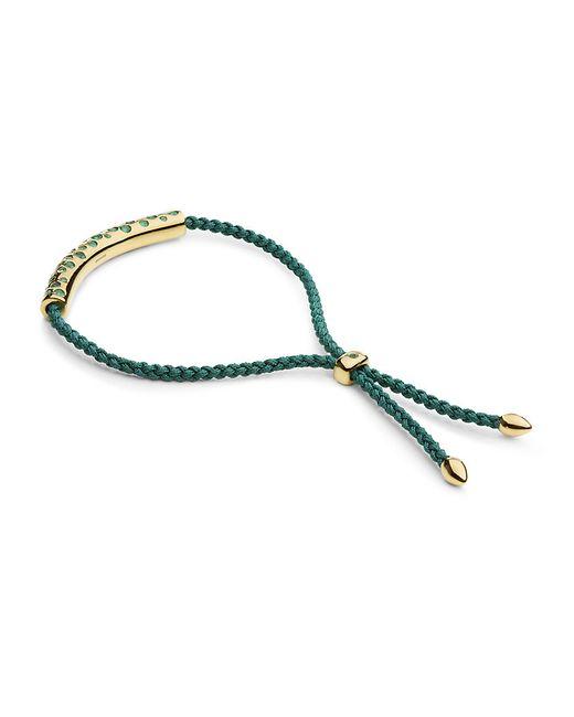 Monica Vinader | Green Linear Friendship Bracelet | Lyst