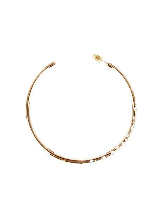 Karen Millen | Metallic Crystal Sprinkle Earrings | Lyst