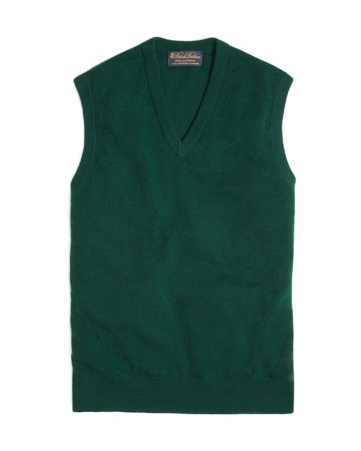 Brooks Brothers | Green Cashmere Sweater Vest for Men | Lyst