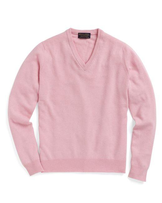 Brooks Brothers | Pink Cashmere V-neck Sweater for Men | Lyst