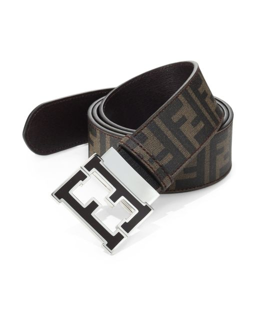 Fendi | Brown Logo Reversible Belt | Lyst