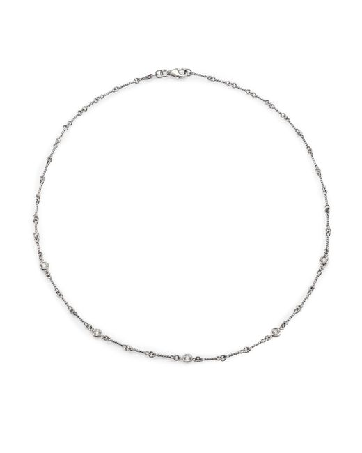 Roberto Coin | Diamond & 18k White Gold Station Necklace | Lyst