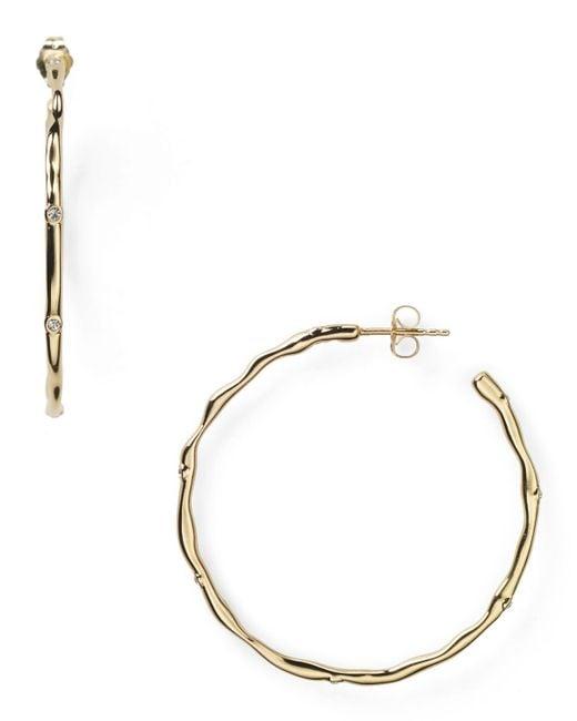 Nadri | Metallic Cubic Zirconia Cubic Zirconia Round Hoop Earrings | Lyst