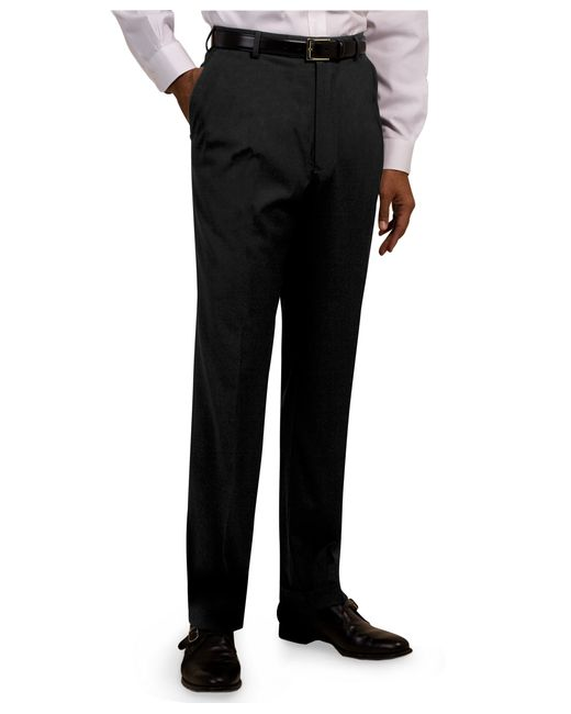 Brooks Brothers | Blue Plain-front Suiting Essential Stripe Trousers for Men | Lyst
