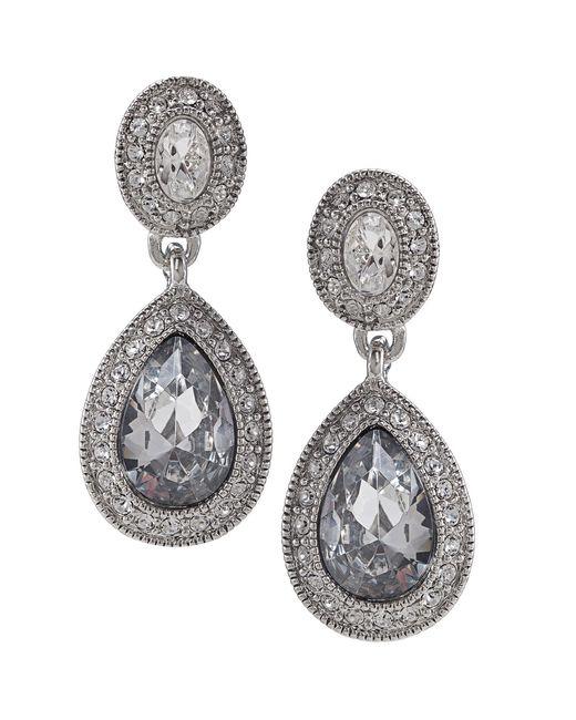 Carolee | Metallic Earrings, Crystal Drop | Lyst