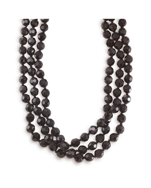 Carolee | Black Necklace, Jet Bead Long Rope | Lyst