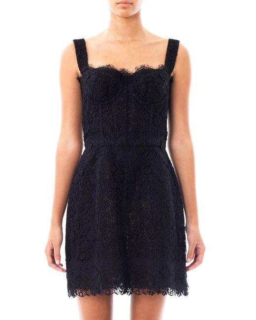 Dolce & Gabbana   Black Fringed Twill Dress   Lyst