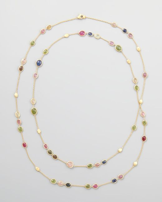 Marco Bicego | Siviglia 18K Multicolor Sapphire Station Necklace | Lyst