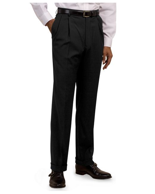 Brooks Brothers | Gray Pleat-front Suiting Essential Trousers for Men | Lyst