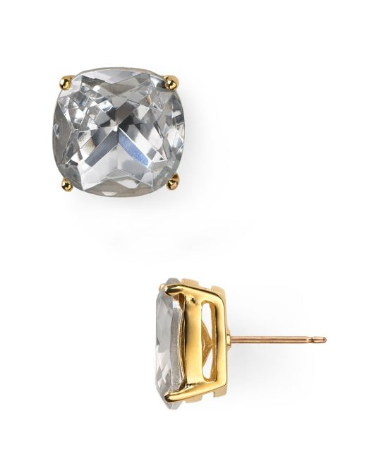 Kate Spade   Metallic Small Square Stud Earrings   Lyst