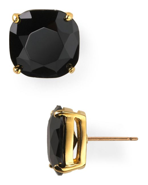 Kate Spade | Black Small Square Stud Earrings | Lyst