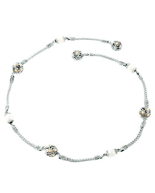 John Hardy | Metallic Dot Beaded Wrap Necklace | Lyst