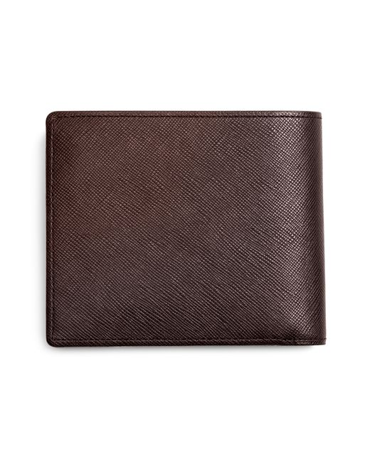 Brooks Brothers | Brown Saffiano Leather Euro Wallet for Men | Lyst