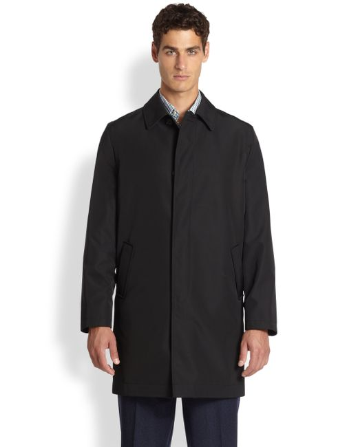 Saks Fifth Avenue | Black Reversible Coat for Men | Lyst
