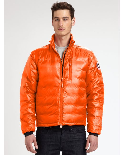 Canada Goose | Orange Lodge Down Jacket for Men | Lyst