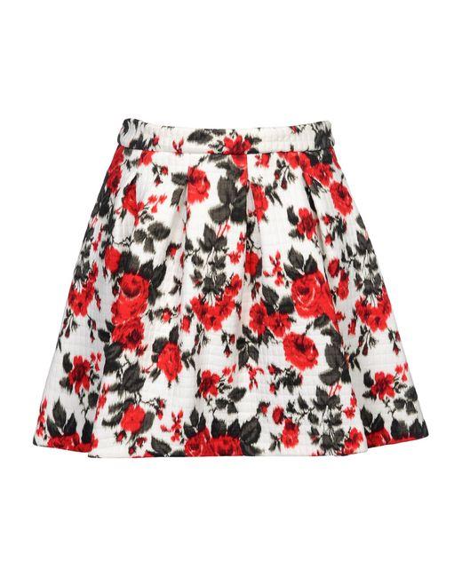 MSGM | White Leopard Print Skirt | Lyst