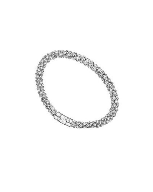 Guess | Metallic Glamazon Pave Bangle | Lyst
