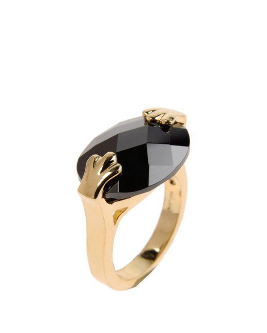 CZ by Kenneth Jay Lane | Black Ring | Lyst