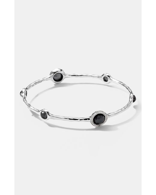 Ippolita   Gray Clear Quartz Motherofpearl Sterling Silver Earrings   Lyst
