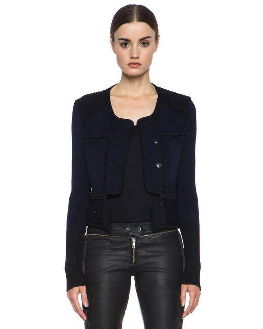 Isabel Marant | Black Bazin Structured Knit Jacket | Lyst
