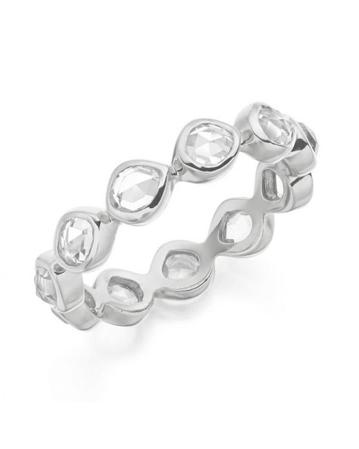 Monica Vinader | Metallic Siren Eternity Ring Small | Lyst