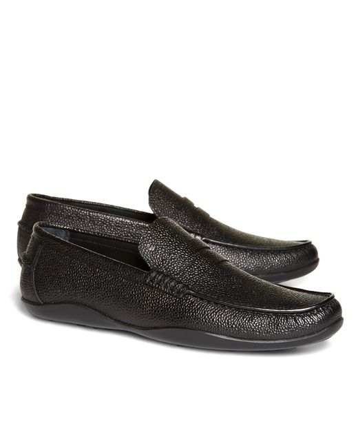 Brooks Brothers | Black Harrys Of London® Scotch Grain Basel Leather Loafers for Men | Lyst
