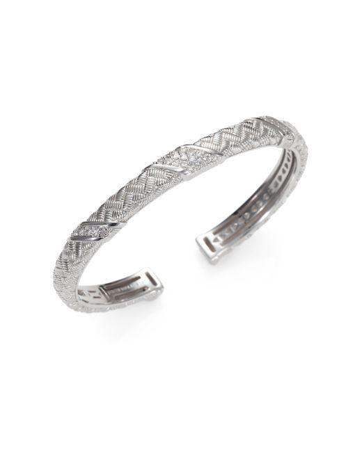 Judith Ripka | Metallic White Sapphire and Sterling Silver Bracelet | Lyst