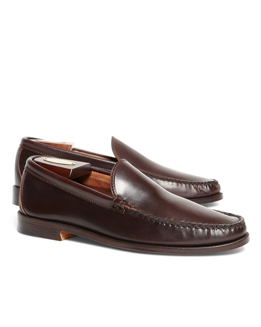 Brooks Brothers | Purple Rancourt & Co. Cordovan Venetian Loafers for Men | Lyst