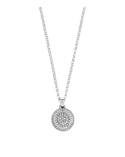 Michael Kors | Metallic Silver Disc Necklace | Lyst