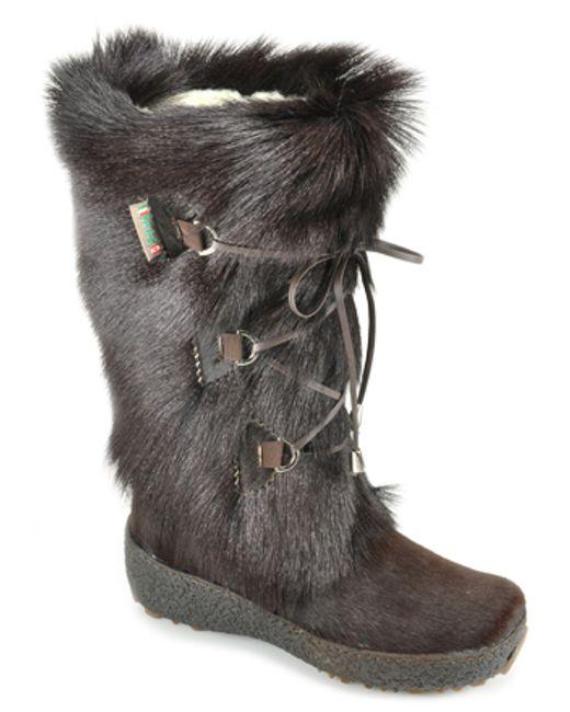 Pajar | Brown Fur Boot | Lyst