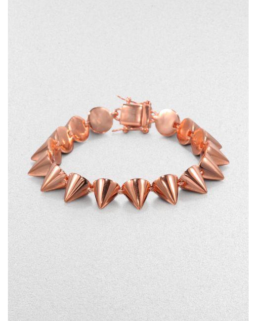 Eddie Borgo | Metallic Small Cone Bracelet/rose Goldtone | Lyst