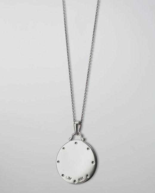 Monica Rich Kosann | Metallic White Sapphire Paw Print Charm Necklace | Lyst