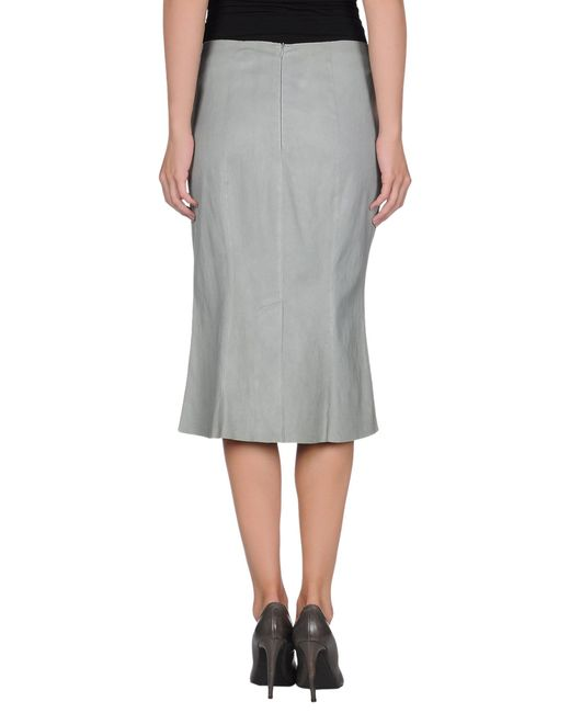 jitrois leather skirt in gray grey save 51 lyst