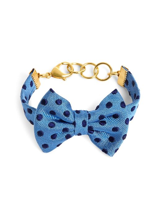 Brooks Brothers | Kiel James Patrick Blue And Navy Polka Dot Bow Tie Bracelet | Lyst
