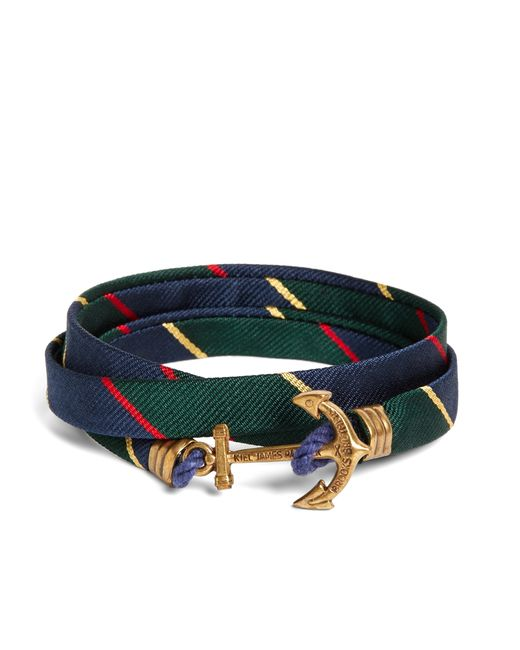 Brooks Brothers | Multicolor Kiel James Patrick Argyle Sutherland Rep Wrap Bracelet for Men | Lyst