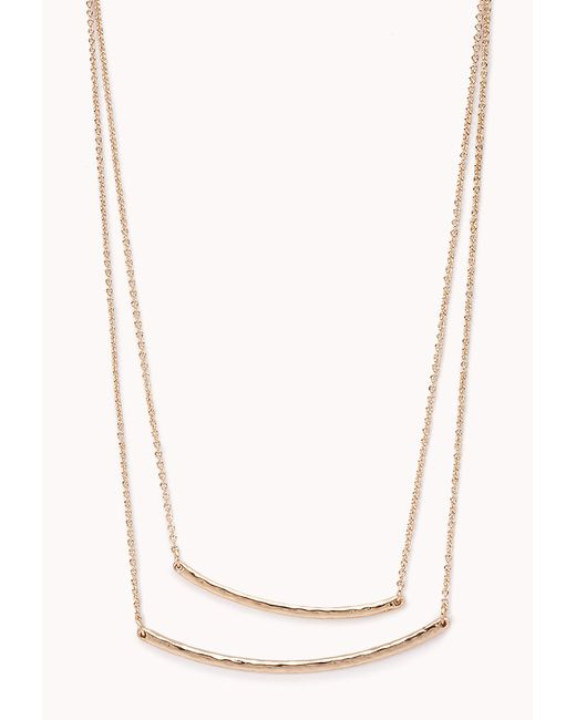 Forever 21 | Metallic Layered Bead Necklace | Lyst