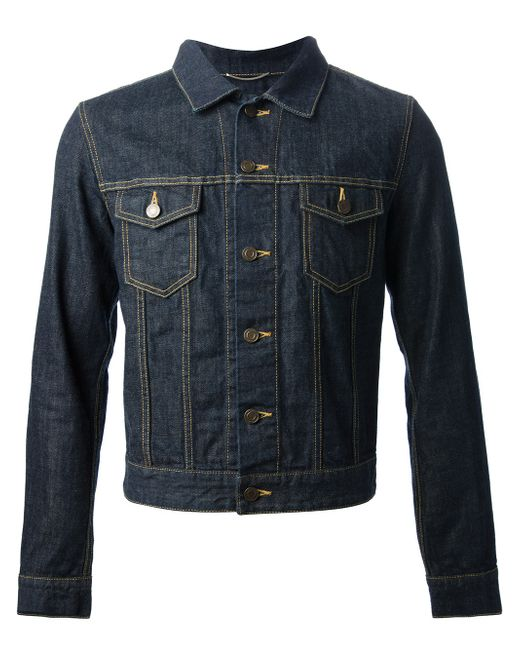 Saint Laurent | Blue Denim Jacket for Men | Lyst