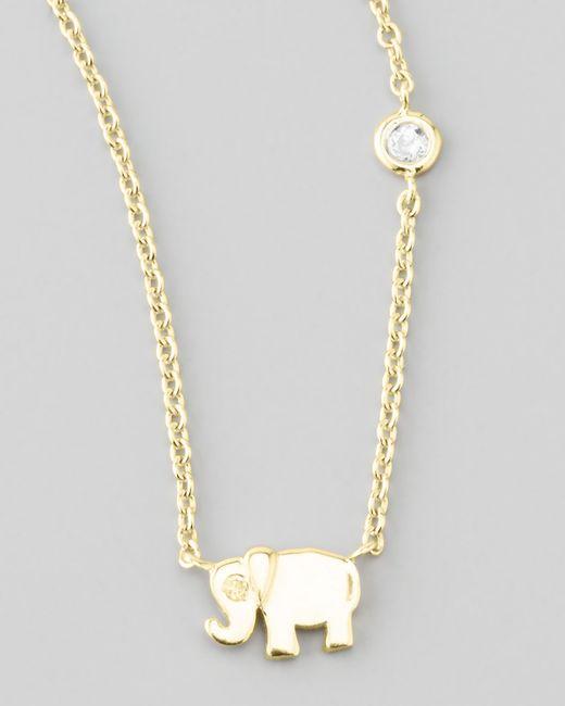 Shy By Sydney Evan | Metallic Elephant Pendant Bezel Diamond Necklace | Lyst