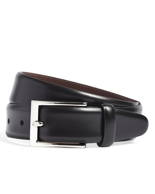 Brooks Brothers | Black Feather Edge Belt for Men | Lyst
