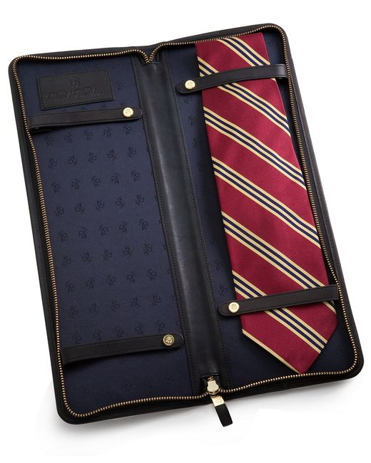 Brooks Brothers | Black Leather Tie Case for Men | Lyst