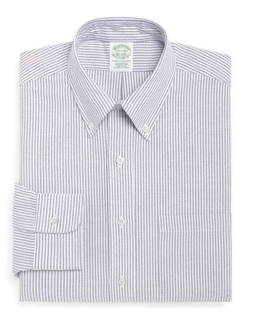 Brooks Brothers | Blue Madison Fit Stripe Dress Shirt for Men | Lyst