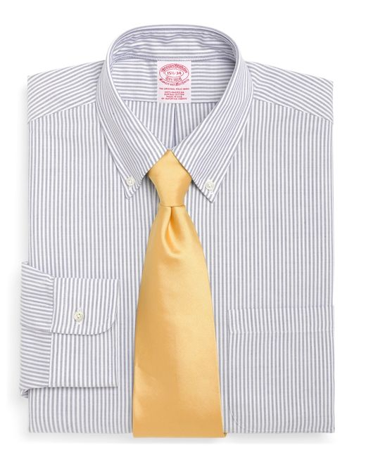 Brooks Brothers   Blue Traditional Fit Stripe Dress Shirt for Men   Lyst