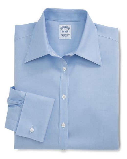 Brooks Brothers | Blue Non-iron Fitted French Cuff Dress Shirt | Lyst