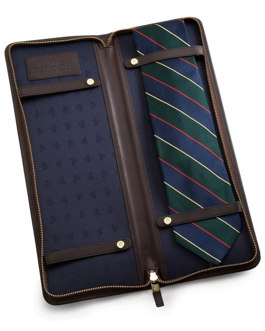 Brooks Brothers | Brown Leather Tie Case for Men | Lyst