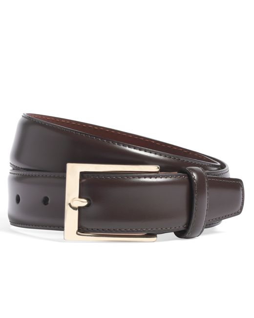 Brooks Brothers | Purple Gold Buckle Leather Dress Belt for Men | Lyst