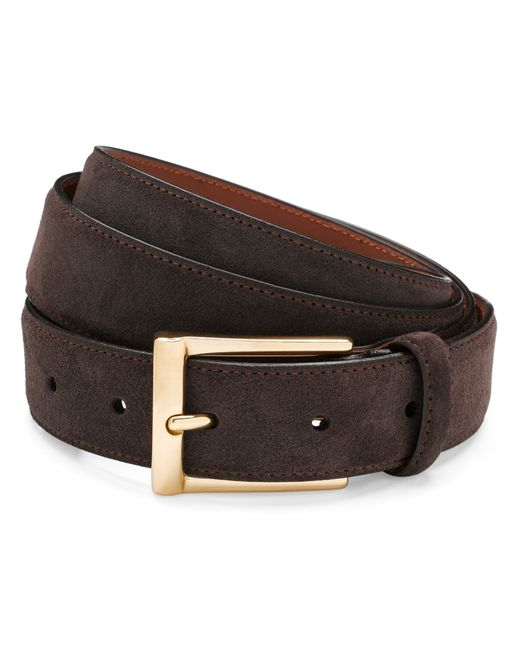 brothers suede dress belt in brown for