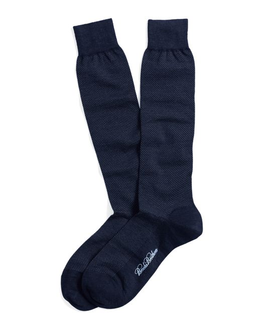 Brooks Brothers | Black Merino Wool Mini Dot Over-the-calf Socks for Men | Lyst
