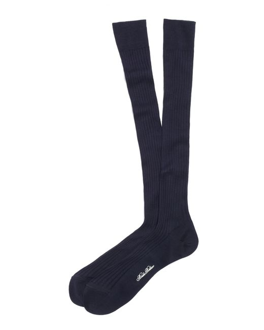 Brooks Brothers | Blue Pima Sized Over-the-calf Socks for Men | Lyst